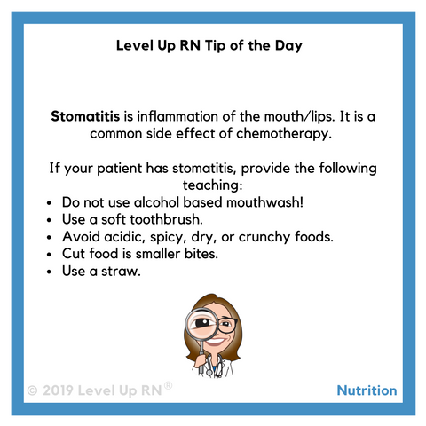 Stomatitis Tip of the Day