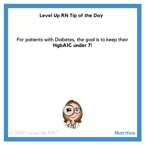 Diabetes HgbA1C Levels Tip of the Day