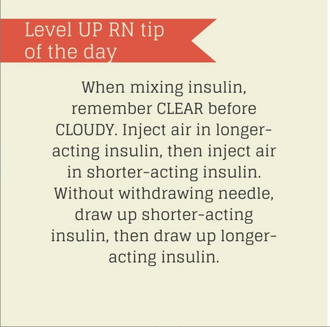 LevelUpRN Mixing Insulin Tip of the Day