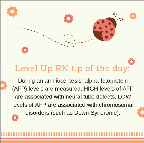 LevelUpRN AFP Measurement Tip of the Day