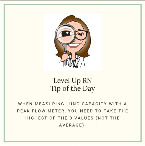 LevelUpRN Lung Capacity Tip of the Day