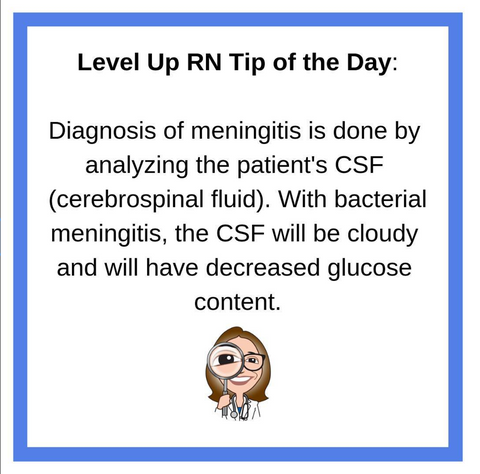 LevelUpRN Meningitis Tip of the Day
