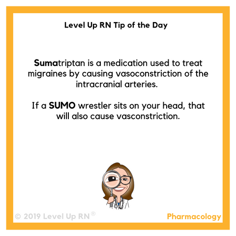 LevelUpRN Sumatriptan Tip of the Day