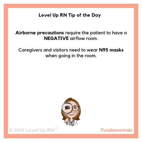 LevelUpRN Airborne Precautions Tip of the Day