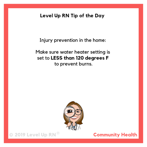 LevelUpRN Water Heater Tip of the Day