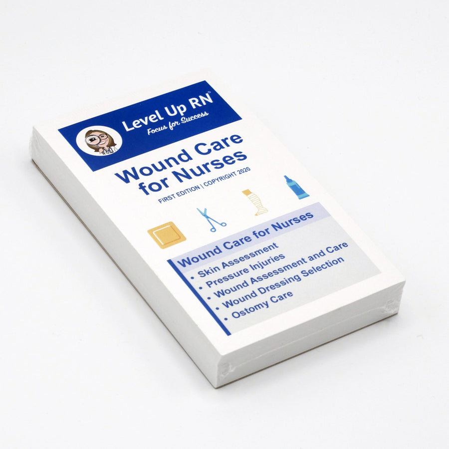 Wound Care Flashcards for Nurses-Study Cards-LevelUpRN