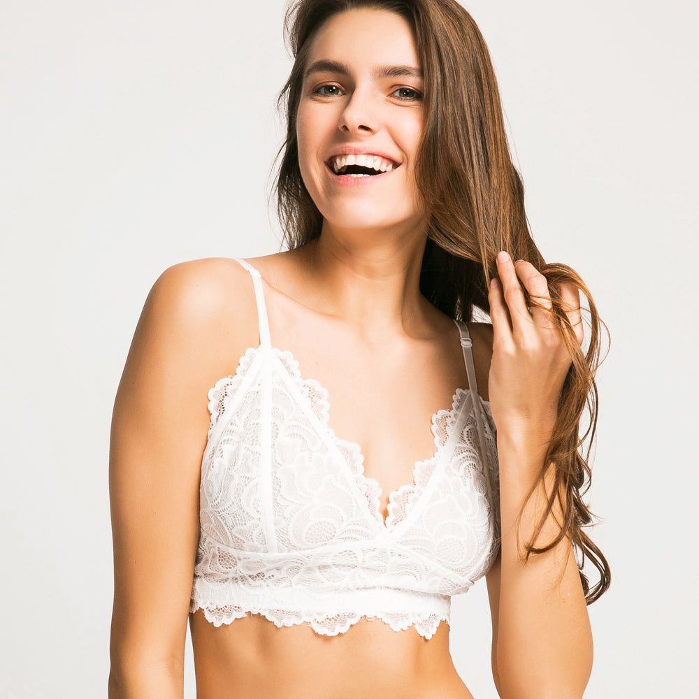 Seamless Lace Push Up Bralette