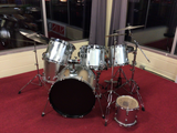 No Name Silver Drum Kit w/ Extra Rack Tom USED
