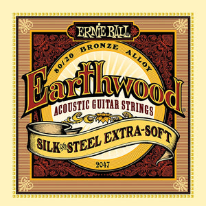 Ernie Ball 2047 Earthwood Silk and Steel Soft 10 50 Acoustic Guitar Strings