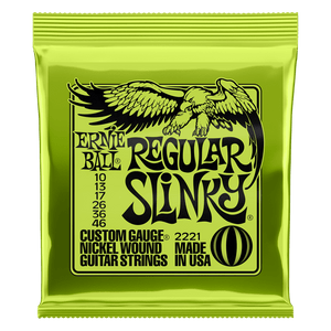 Ernie Ball 2221 Regular Slinky Nickel Wound 10-46 Electric Guitar Strings