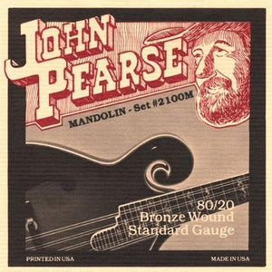 John Pearse 2100M Standard 80/20 Bronze Wound Mandolin Strings