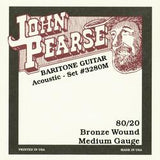 John Pearse 3280M Medium 80/20 Bronze Wound Baritone Guitar Strings