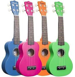 Amahi PGUK Penguin Soprano Ukulele W/GB All Colors