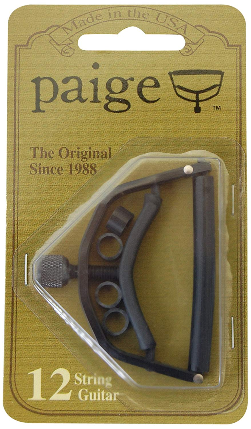 Paige P12E 12-String Guitar Capo - Black