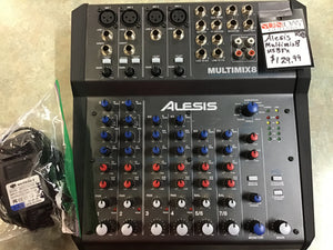 Alesis MULTIMAX8USBFX 8 Channel Interface USED