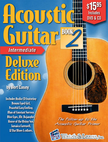 Acoustic Guitar Book 2 Deluxe Edition Intermediate with DVD and CD