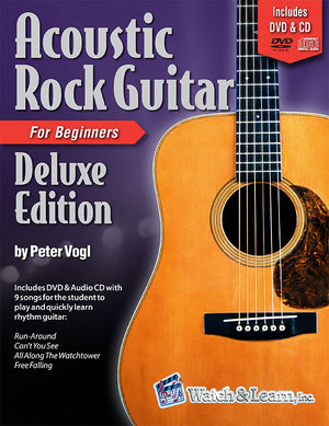 Acoustic Rock Guitar Book Deluxe Edition For Beginners with DVD and CD