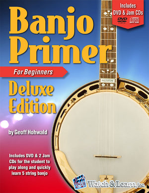 Banjo Primer Deluxe Edition Book For Beginners with DVD/2 CDs