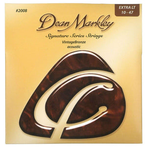 Dean Markley 2008 10-47 Extra Light Vintage Bronze Acoustic Guitar Strings