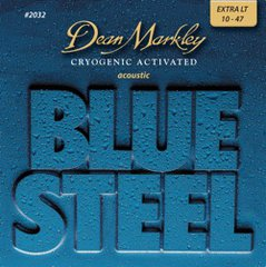 Dean Markley 10-47 Extra Light Blue Steel Acoustic Guitar Strings #2032