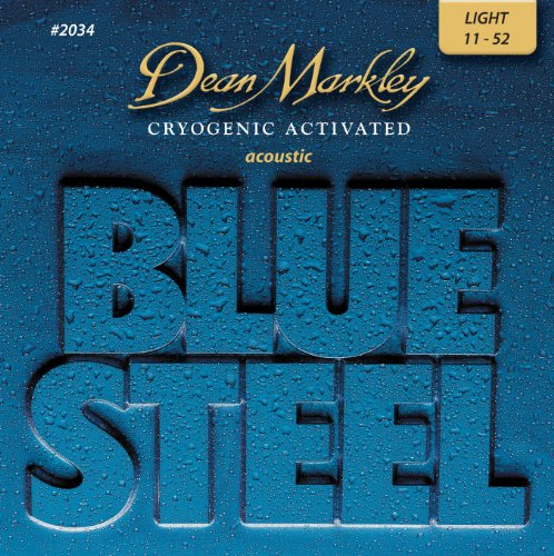 Dean Markley 11-52 Light Blue Steel Acoustic Guitar Strings #2034