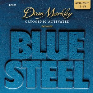 Dean Markley 12-54 Medium Light Blue Steel Acoustic Guitar Strings #2036