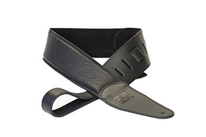 DR 500-BK Premium Buttersoft Guitar Strap Black