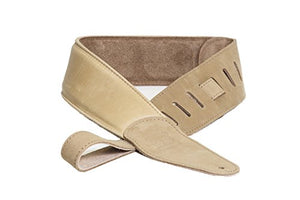 DR 500-T Premium Buttersoft Guitar Strap Tan