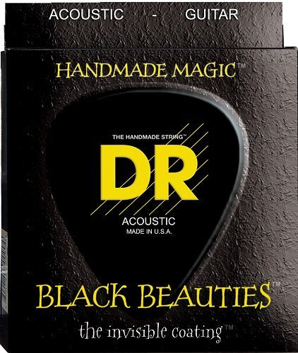 DR BKA-11 Custom Light Black Beauties Acoustic Guitar Strings