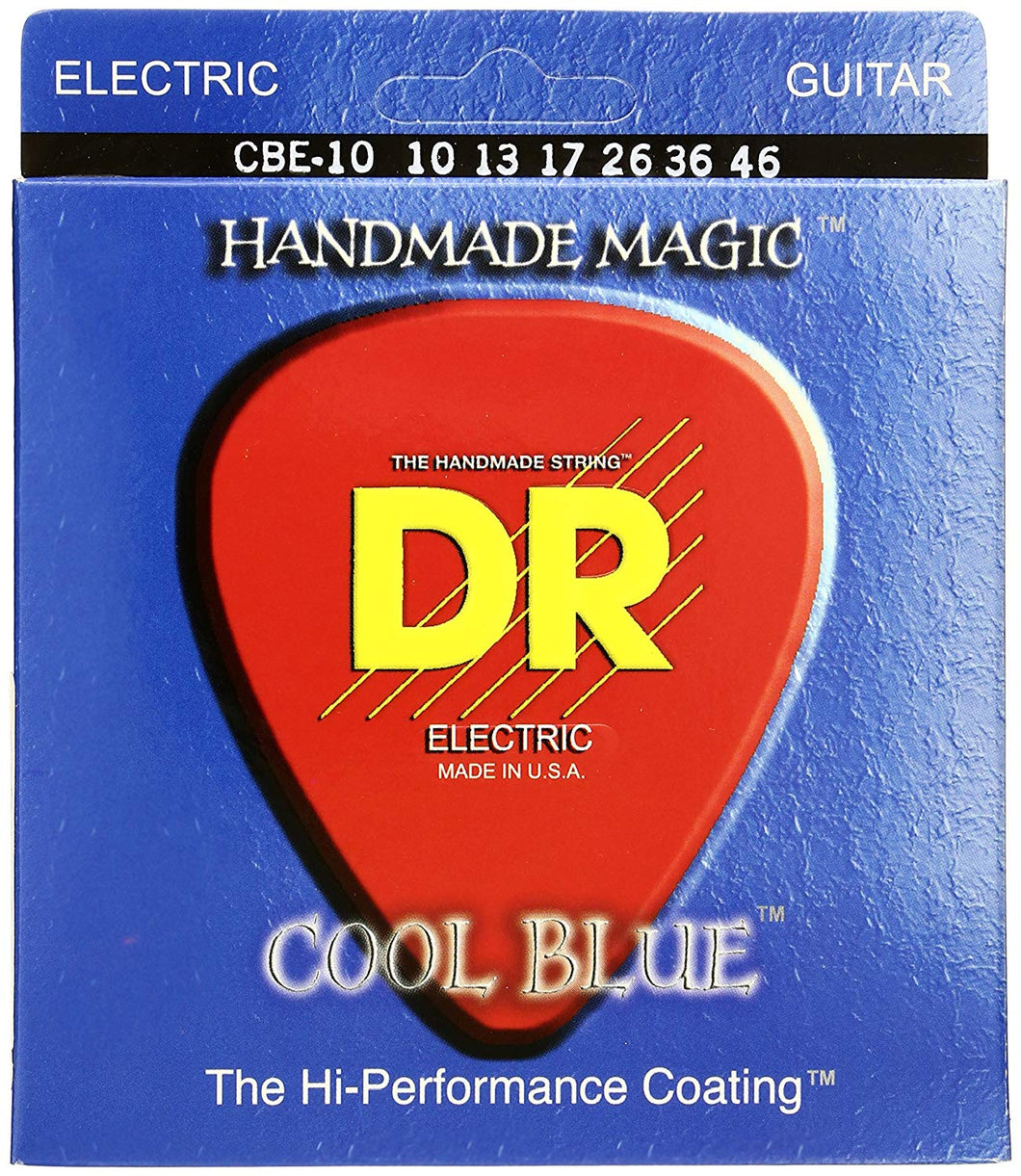 DR CBE-10 Medium Cool Blue 10-46 Electric Guitar Strings