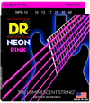 DR NPE-10 Neon Hi-Def Pink Electric Guitar Strings