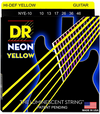 DR NYE-10 Neon Hi-Def Yellow Electric Guitar Strings