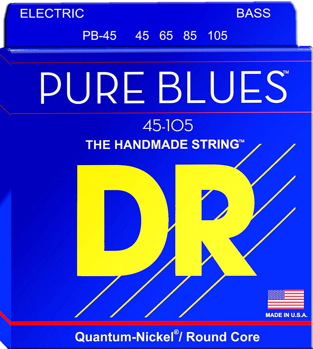 DR PB-45 Medium Pure Blues 45-105 Electric Bass Guitar Strings