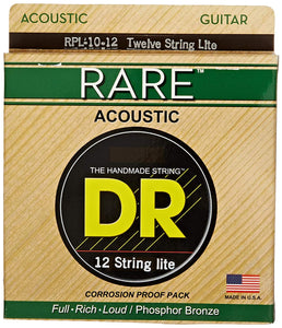 DR RPL-10/12 12-String Light Rare 10-48 Acoustic Guitar Strings