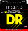 DR SFL-45 Medium Short Scale Legend Flatwound 45-105 Electric Bass Guitar Strings