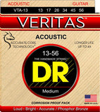 DR VTA13 Medium Veritas Phosphor Bronze Acoustic Guitar Strings