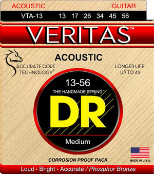 DR VTA-13 Medium Veritas Phosphor Bronze Acoustic Guitar Strings
