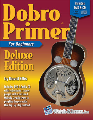 Dobro Primer Book For Beginners Deluxe Edition with DVD and 2 CD's