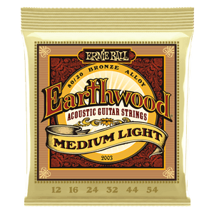Ernie Ball 2003 Earthwood Medium Light 12 54 Acoustic Guitar Strings