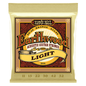 Ernie Ball 2004 Earthwood Light 11 52 Acoustic Guitar Strings