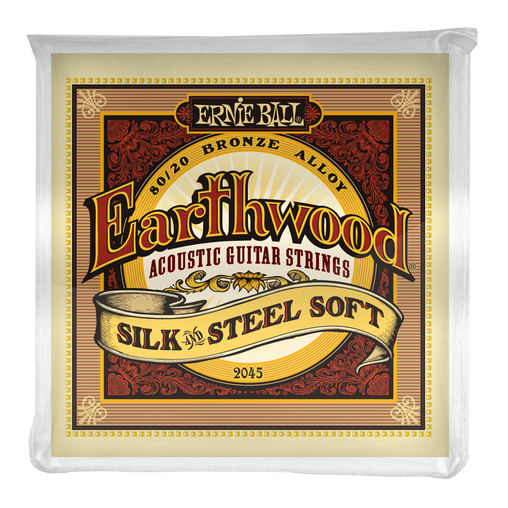 Ernie Ball 2045 Earthwood Silk and Steel Soft 11-52 Acoustic Guitar Strings