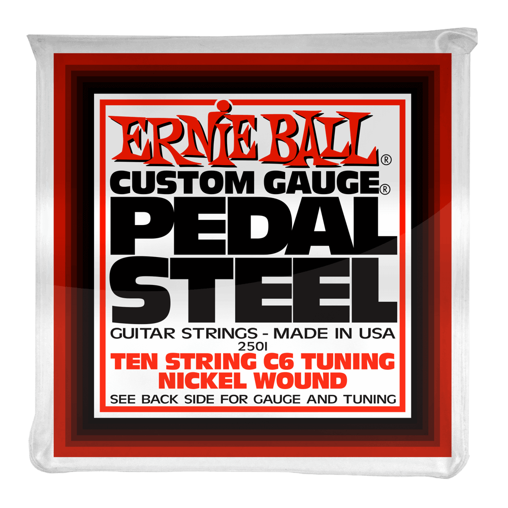 Ernie Ball Pedal Steel 10 String C6 Tuning Nickel Wound 12-66 Electric Guitar Strings