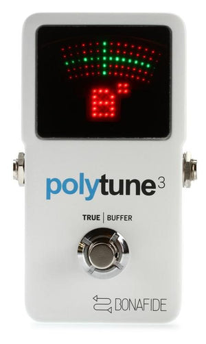 TC Electronic PolyTune 3 Polyphonic LED Guitar Tuner Pedal with Buffer