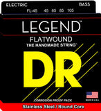 DR FL45 Legend Flatwound 45 105 Electric Bass Guitar Strings
