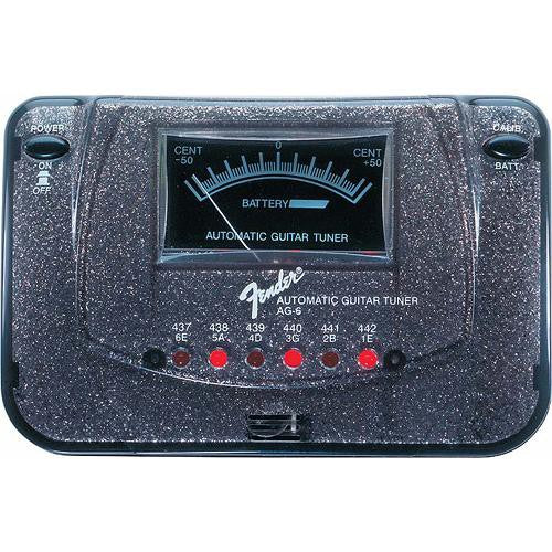 Fender AG-6 Black Sparkle Automatic Guitar Tuner