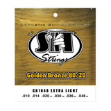 S.I.T. GB1048 Extra Light Golden Bronze Acoustic Guitar Strings