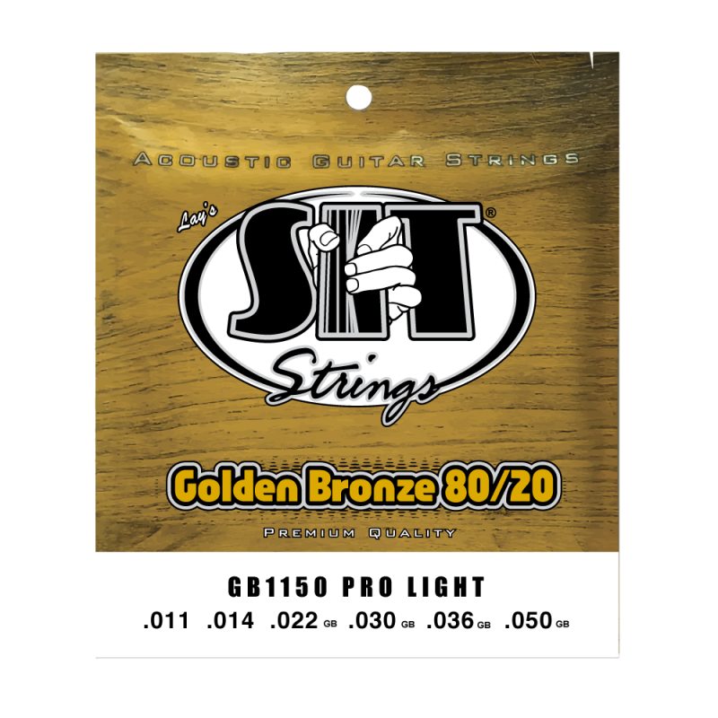 S.I.T. GB1150 Pro Light Golden Bronze Acoustic Guitar Strings