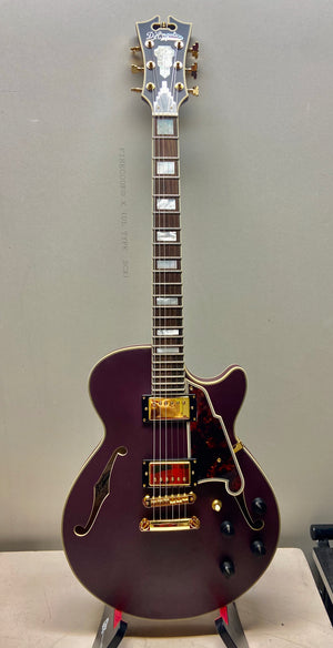 D'Angelico Deluxe Series Limited Edition SS Semi-Hollowbody Plum w/O.H.S.C