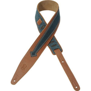 Levy's MGS317BKE-TAN Garment Leather Guitar Strap