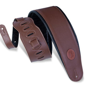 Levy's MSS2-4-BRN Garment Leather Bass Guitar Strap